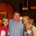 Rebecca Peacock and Valerie Kelleher Herzog with their winemaker Craig Becker.