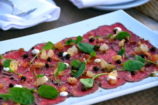 Beef Carpaccio Hors d'oeuvre